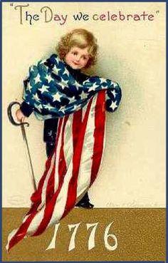 Vintage Of July Fabric Block 1776 Americana Flag Independence Day Celebrate & Garden Vintage Cards, Vintage Postcards, Vintage Images, Vintage Quotes, Vintage Vibes, Vintage Pictures, I Love America, God Bless America, Patriotic Images