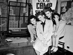 The Andrews Sisters, who were USO Entertainers during WWII