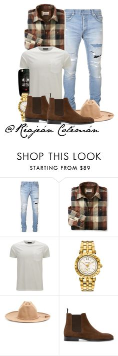 """Casual // Guys outfit"" by reajean99 ❤ liked on Polyvore featuring Balmain, L.L.Bean, Belstaff, Versace, Visvim, PS Paul Smith, men's fashion and menswear"
