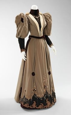 Evening dress ca. 1893 via The Costume Institute of The Metropolitan Museum of Art