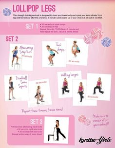 Downloadable workout printable that will help sculpt the inner and outer thighs, tighten the booty and tone your legs! Have fun doing the Lollipop Legs workout!