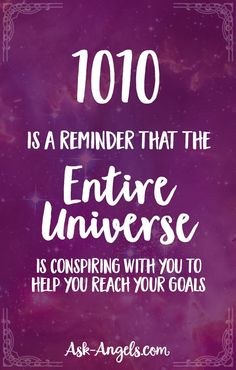 Numerology Reading - 1010 is a reminder that the entire universe is conspiring with you to help you reach your goals. - Get your personalized numerology reading Numerology Numbers, Astrology Numerology, Numerology Chart, Numerology Compatibility, Aquarius Astrology, Sagittarius, Angel Number Meanings, Angel Numbers, Angel Number 1010 Meaning
