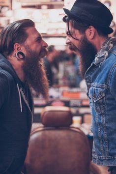 When beards collide! - two beautiful bearded men !! Lane Toran full thick dark…