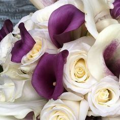 Sneak peak at this weekends wedding!! #mmflowers #rose #callalily #whiterose #bridalbouquet #bride #wedding