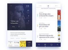 Some screens of the app concept that I made a few month ago. Inspired by @Jakub Antalík.