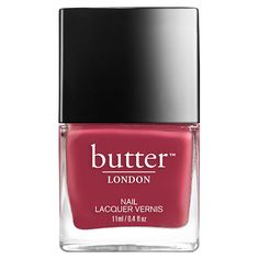 You don't have to be daring all the time. Sometimes a deep, dusky-pink nail lacquer is just the ticket and very posh indeed.