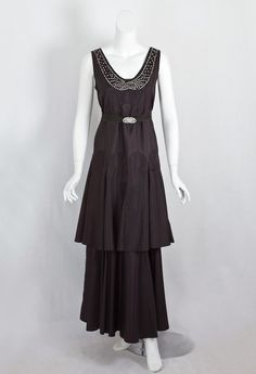 1930s Clothing at Vintage Textile: #7368 Deco evening dress. how to turn a day dress into an evening dress