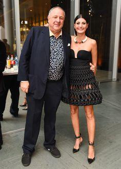 Jean Pigozzi and Giovanna Battaglia Engelbert in Alexander McQueen top and Comme des Garçons x Noir Kei Ninomiya