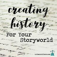 Creating History for Your Storyworld Writing Genres, Book Writing Tips, Writing Worksheets, Fiction Writing, Writing Help, Writing Skills, Writing Workshop, Writing Images, Writing Fantasy