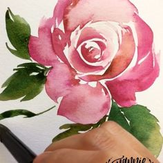 Painting a #vintage looking #watercolor #rose with a triangular brush. Custom color by mixing Red Brown and Red Violet. ✍️ @mijello_mission Watercolors + @cansonpaper XL watercolor paper + @silverbrushlimited brushes . . . #watercolor #watercolorpainting #art #artwork #painting #paintingart #paintings #artcollective #art_help #watercolors #art_empire #paintingoftheday #watercolorflorals #worldofartists #artshub #drawingthesoul #art_daily #florals #artsogram #jeanniedicksonflorals #instagood…
