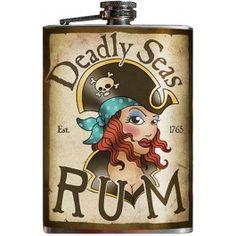 Deadly Seas Rum - Stainless Steel Flask - 8 oz.