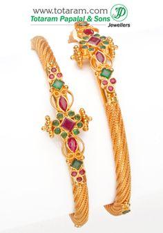 22K Fine Gold - GK273 - Indian Jewelry from Totaram Jewelers