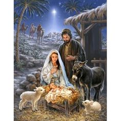 Remember the true meaning of Christmas with this beautiful puzzle. This gorgeous piece of artwork depicting the birth of Jesus and the coming of the 3 wise men is a truly awe-inspiring puzzle. Springbok Savior is Born Jigsaw Puzzle Christmas Nativity Scene, Christmas Scenes, The Nativity, Nativity Scenes, Christmas Wreaths, Image Jesus, Meaning Of Christmas, Birth Of Jesus, Baby Jesus