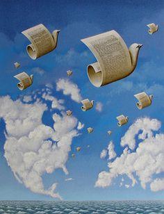 Atos e palavras sangram pela mesma ferida: precisamos de PAZ! Octavio Paz theemilian:  Rafal Olbinski - Letters to Europe