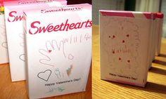 Personalized conversation hearts boxes for Valentine's Day; Valentine's exchange #kids #classroom #school (scheduled via http://www.tailwindapp.com?utm_source=pinterest&utm_medium=twpin&utm_content=post694337&utm_campaign=scheduler_attribution)