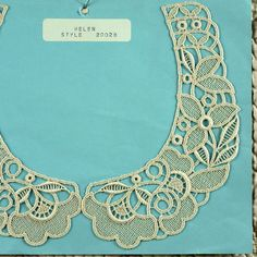 Lace Collar Applique, Cream Floral, Helen Style 20028, Leaves, Flowers by DartingDogCrafts on Etsy