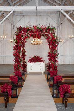 Arche mariage rouge