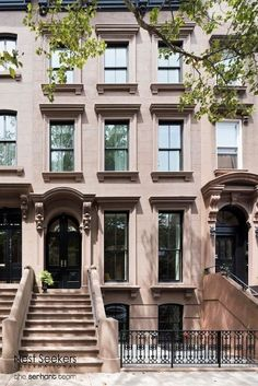 For sale: $6,495,000. Life en grandeur, welcome to 442 Henry Street, a thoughtful and masterfully renovated single family Brownstone townhouse located in the Cobble Hill Historic District. Restored and upgraded to perfection, this 20.5 wide home is currently setup as a 3-story, single-family home, and includes 5 bedrooms, 3.5 bathrooms, a rear back yard, and roof terrace with unobstructed views of downtown Manhattan. This home is classically outfitted with white oak hardwood floors…