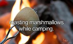 you cannot go camping without roasting marshmallows.