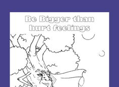 Free printable coloring page for character education- teach kids how to respect others.