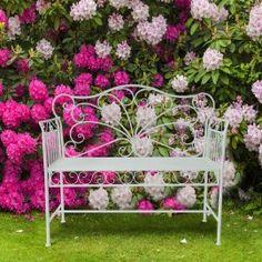 Poze BAA203 - Banca metalica gradina - Alba Alba, Outdoor Furniture, Outdoor Decor, Bench, Metal, Home Decor, Homemade Home Decor, Benches, Desk