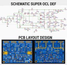 Super OCL Power Amplifier 500W DEF Ab Circuit, Circuit Diagram, Electronics Basics, Electronics Projects, Education Sites, Diy Tech, Audio Amplifier, Car Audio, Super Powers