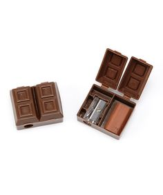 Take a look at this Scented Chocolate Bar Pencil Sharpener/Eraser - Set of 24 by GEDDES on #zulily today!
