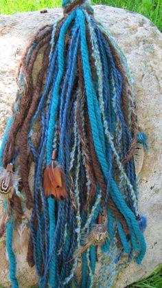 "Hair Fall ""Blue Sky"". $16.50, via Etsy."