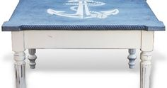 What's your Coffee Table Style?  If it is nautical, check out this painted anchor coffee tables!