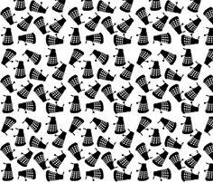 Dalek White fabric by janinez on Spoonflower - custom fabric