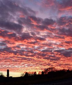 My friend Cissie took this photo in Dandridge, TN.  The sky was stunning with colors of pinks, purples, lavenders, and light blues with a touch of gold!