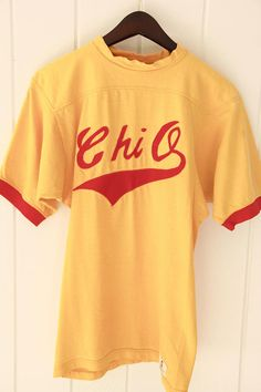 70's Vintage CHI OMEGA Sorority Shirt Rare Russell Brand