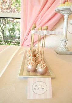 Romantic Shabby Chic Vintage Pink White Cake pops Wedding Cakes Photos & Pictures - WeddingWire.com