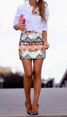 Idée et inspiration look d'été pour femme tendance 2017 Look TendanceDescriptionlove the sequin skirt with that simple top! and now shopping through studentrate to find it all for less ♥ Sequin Skirt Outfit, Skirt Outfits, Bandage Skirt Outfit, Look Fashion, Fashion Outfits, Womens Fashion, 70s Fashion, Modest Fashion, Fashion Clothes