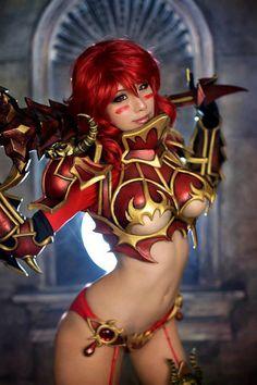 dirty-gamer-girls:  Source:Elyuin Age Of Storm Kingdom On Fire Online CosplayDirty Gamer Girls