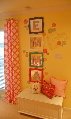 Framed Mirrors with Letters