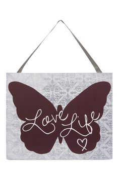 "Primark ""Love Life"" butterfly plaque!"