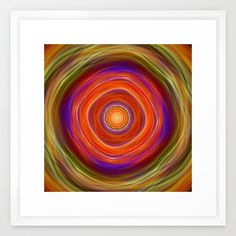 In the heat of the summer, colourful fractal abstract Framed Art Print