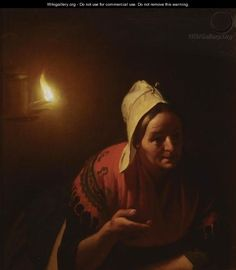 Conversation By Candlelight - Petrus Van Schendel