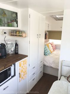 RV, motorhome, camper renovated kitchen