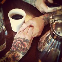 love & flowers tattoo