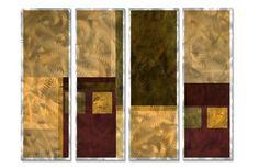 'Persuade 2' by Francine Bradette 4 Piece Painting Print Plaque Set