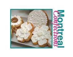 White anniversary cookies - cookie decorating