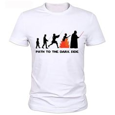 7eae7287 Star Wars Funny Fashion T-shirt Evolution Series T Shirt Novelty Tshirt Men  Women Geek Tee Can be customized