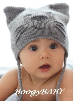 Baby warm hat (handmade knitted suitable for winter). $16.99, via Etsy.