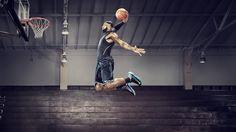 Fond d'écran 1920x1080 NBA LeBron James Slam Dunk
