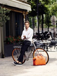 """Simon Baker for Givenchy's """"Gentlemen Only - Casual Chic""""."""