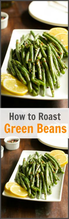 This tutorial about How to Make Crispy Roasted Green Beans helps you to make a quick and delicious vegetable side dish that adds color and nutritious to your meal! Food Recipe Share and enjoy! Side Dish Recipes, Vegetable Recipes, Vegetarian Recipes, Cooking Recipes, Healthy Recipes, Vegetable Sides, Vegetable Side Dishes, Roasted Green Beans, Pan Green Beans