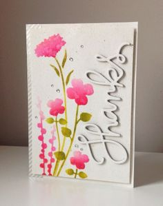 Beth's Little Card Blog: Floral Thanks!