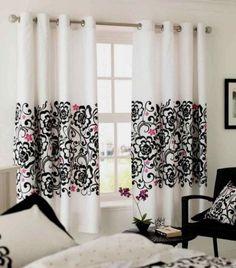 black and white curtains for living room things 55 best images blinds home decor but brown in the middle diy bedroom